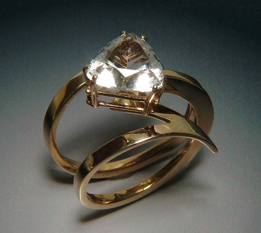 Web6 !4k Gold Ring with Topaz