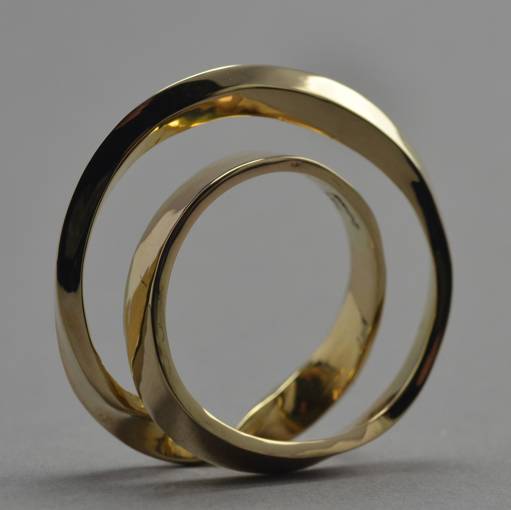 14K Gold 'Mobius' (one sided) Ring