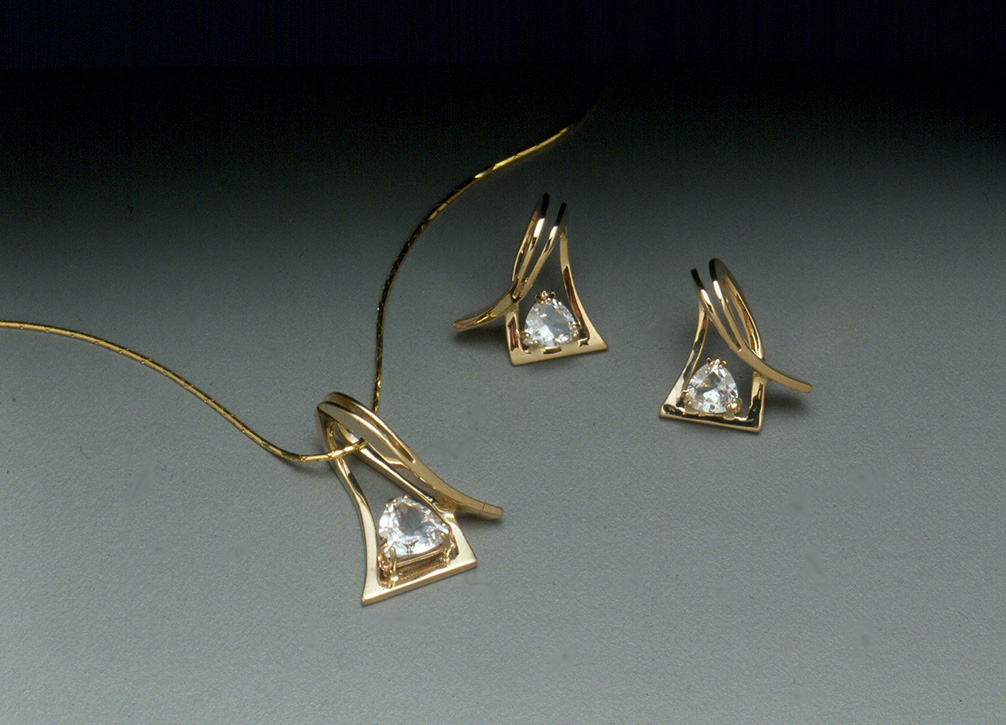 Edit 14k Slider and Earrings with Topaz